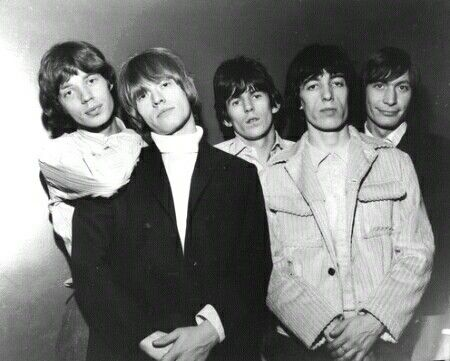 The Rolling Stones 1960s | The Rolling Stones in the 1960s. From left: Jagger, Jones, Richards ...