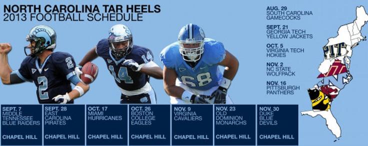 2013 UNC football schedule