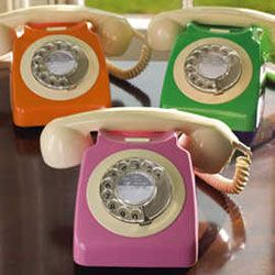 I'm obsessed with old telephones. I'll probably be the last person on earth that has a landline.