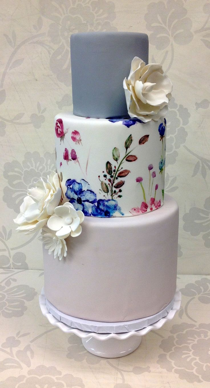 25 Best Ideas About Painted Wedding Cake On Pinterest