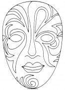 Раскраска Венецианские маски