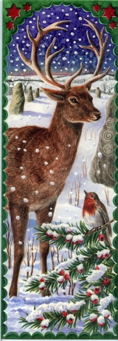 Winter Solstice Sentinel....(the Hart, or European Red Deer, is on the Robinson Crest, and is the family emblem.)