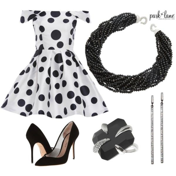 Dots & Bling by parklanejewelry on Polyvore featuring AX Paris, Kurt Geiger, jewelry, bling and parklanejewelry