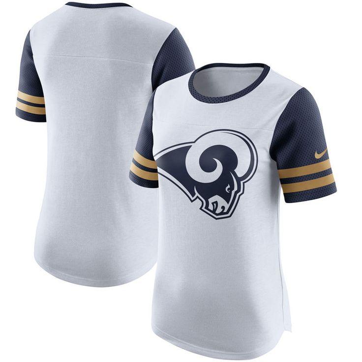Los Angeles Rams Nike Women's Gear Up Modern Fan Performance T-Shirt - White