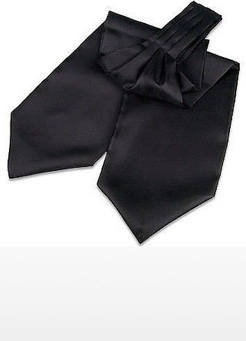 €48.00   This classic solid black ascot stays true to the elegance and style the traditional ascot demands. Made exclusively for the Forzieri label in Florence, Italy. Made in Italy.