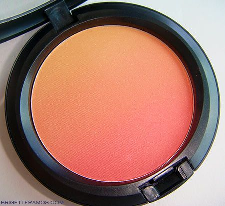"MAC ""Ripe Peach Blush."" This is like a sunset & it's beautiful! <3"