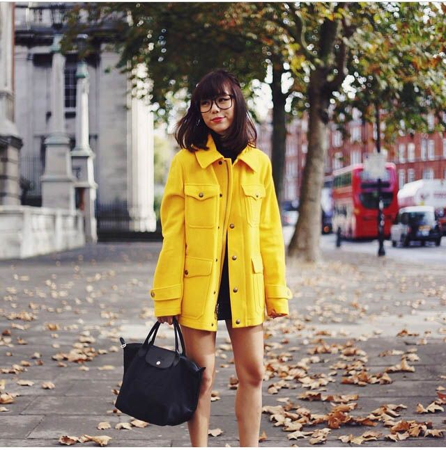 #dreachong mustard yellow coat