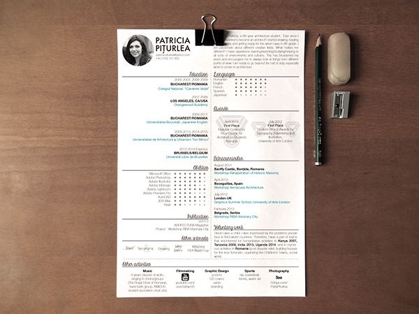 1000+ images about CV design on Pinterest Behance, The black and - user experience architect sample resume