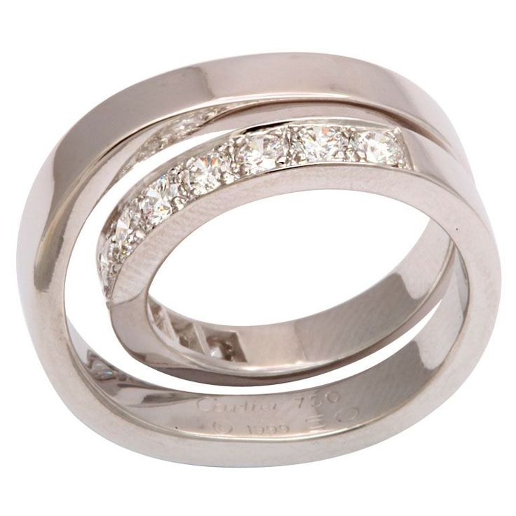 CARTIER PARIS Nouvelle Vague Diamond Ring $10,400... I'm so soooooo heartbroken... and poor.