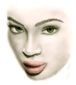 Easy to Draw Real Faces | ... just to show you in small steps how drawing realistic faces is done