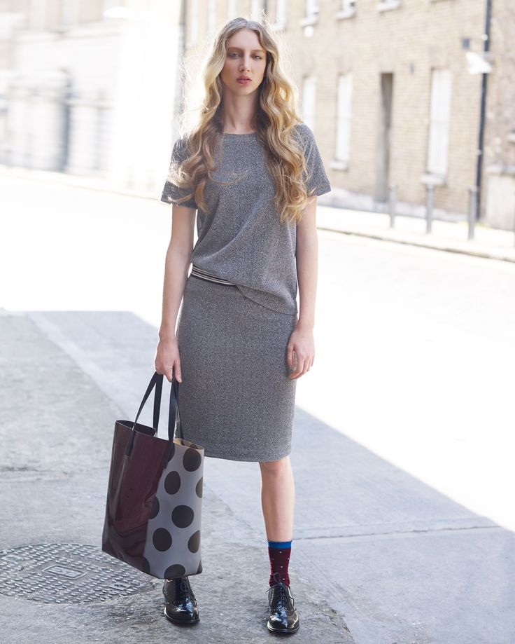 Metallic short-sleeved top and skirt by Carolyn Donnelly The Edit