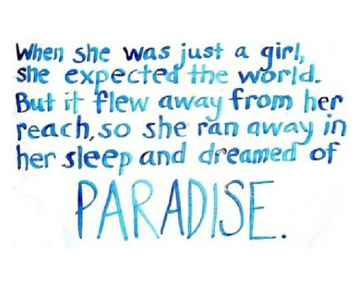 Paradise lyrics by Coldplay.