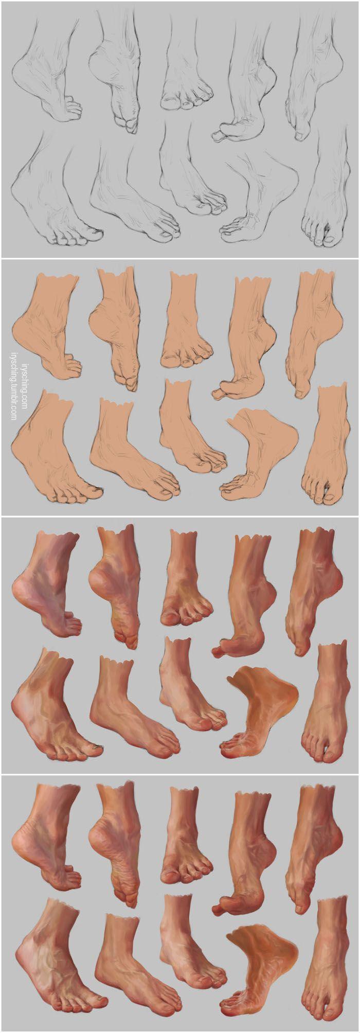Feet Study 2 - Steps by ~irysching on deviantART