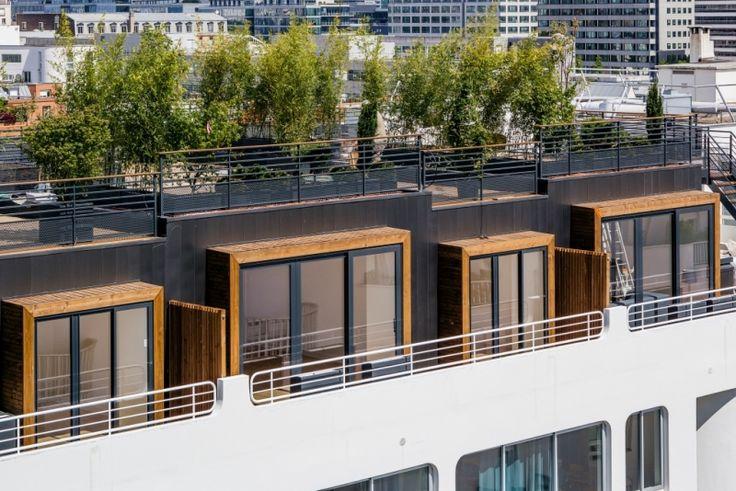 Surélévation à Paris en structure KLH, architecte Studio Vincent Eschalier