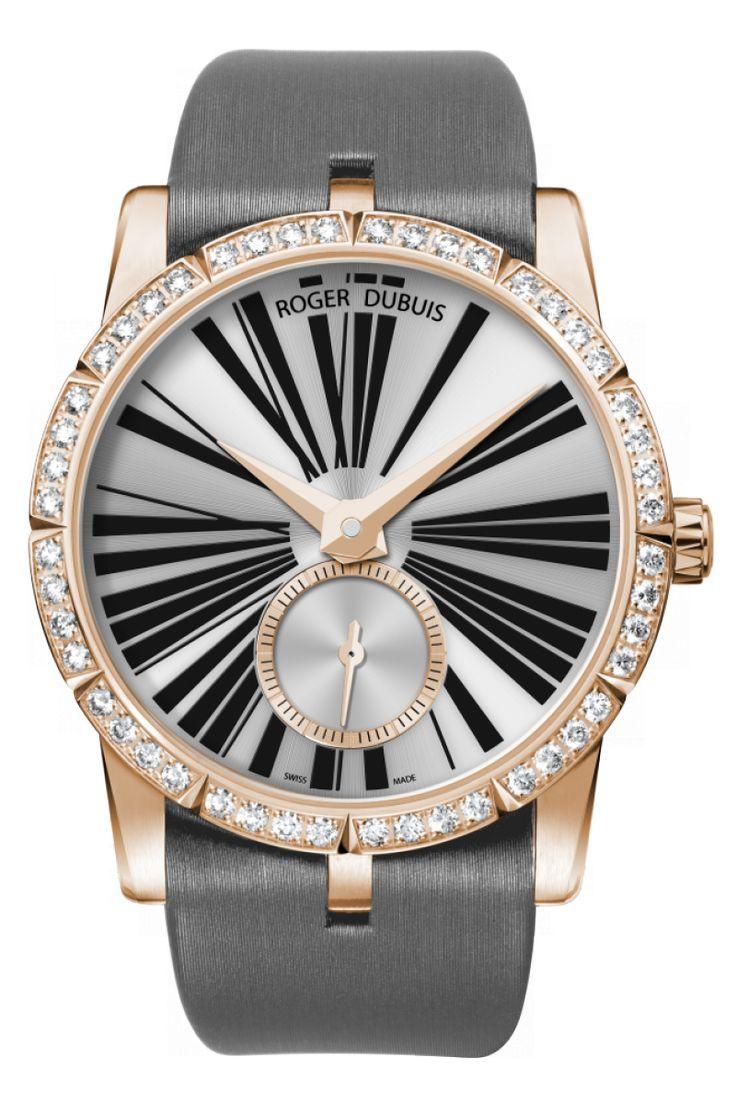 Часы Roger Dubuis RDDBEX0275 Excalibur Excalibur 36 Automatic - белые, золотые - швейцарские женские наручные часы