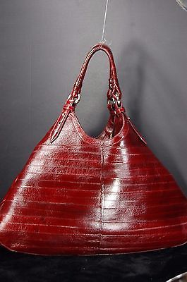 SUPER BEAUTIFUL !!! COLE HAAN COLLECTION EEL SKIN LARGE $795.00
