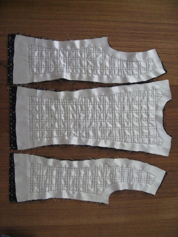The French Jacket - The Seams. Assemble quilted garment in sections with facings.