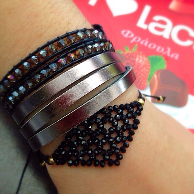Love this combination!!!! Handmade bracelets