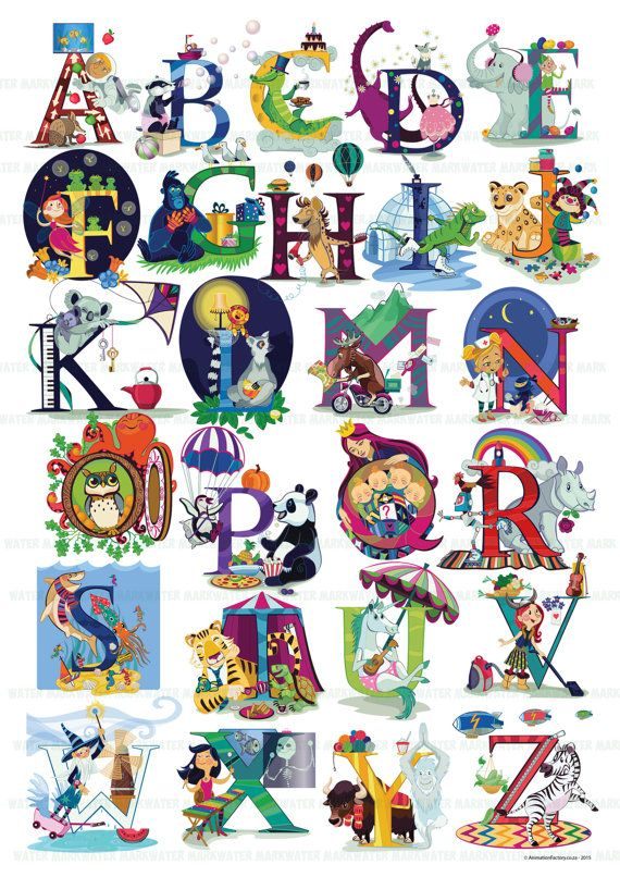 Alphabet Poster by AnimationFactory on Etsy