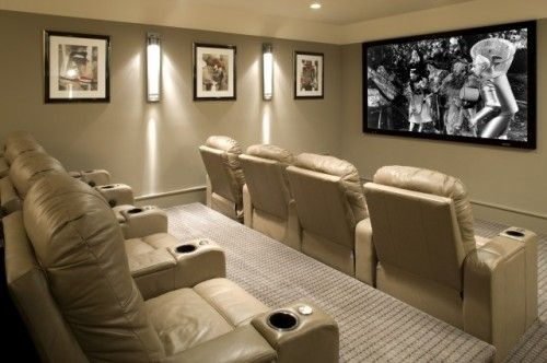 In-Home Theatre #interiorsolutions #style #inspiration #homedecor #movietheatre: Eclectic Design, Movie Rooms, Theater Rooms, Movie Theater, Paintings Colors, Theatre Rooms, Home Theater Design, Men Caves, Media Rooms Design