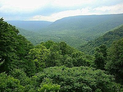 Allegheny Mountains in western Pennsylvania. The Allegheny Mountains constitute the northeastern portion of the Appalachian Mountain Range.
