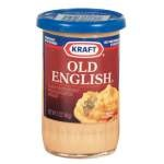 Easy Cheese Ball    ■1 8oz pkg of block cream cheese, room temp  ■1 jar of Old English cheese