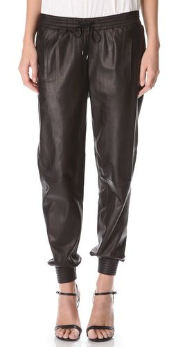 Vince made leather jogging pants and I no longer know how to feel. Whatever that means.