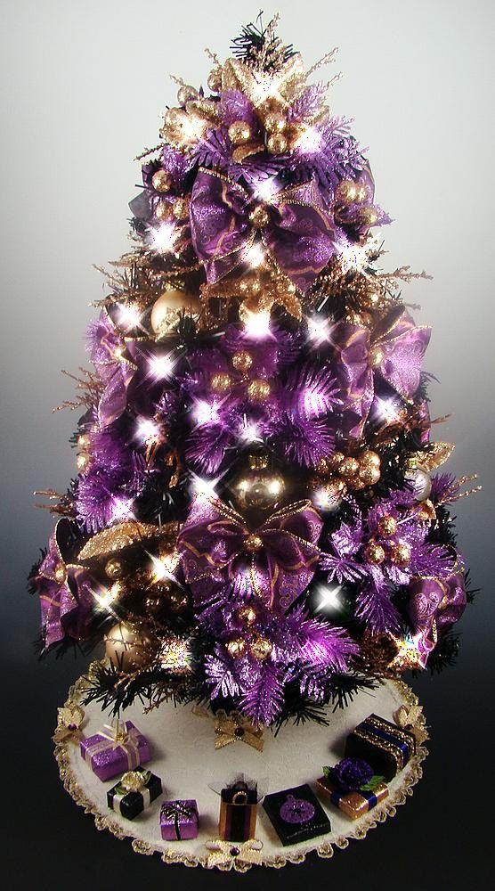 559 best purple christmas trees wreaths images on. Black Bedroom Furniture Sets. Home Design Ideas