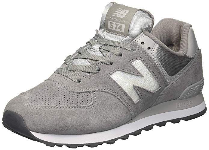 new balance 574 grigio