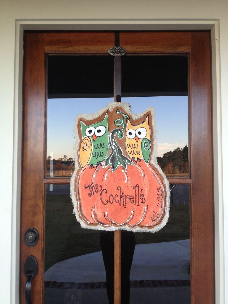 17 Best images about FallHalloween Door Hangers on  ~ 102409_Halloween Owl Door Hanger