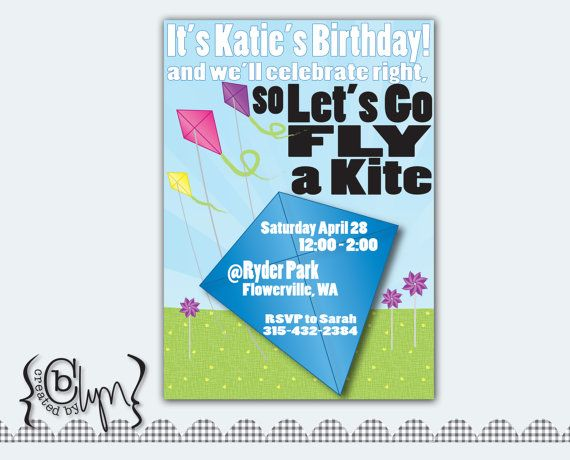 fly a kite invite