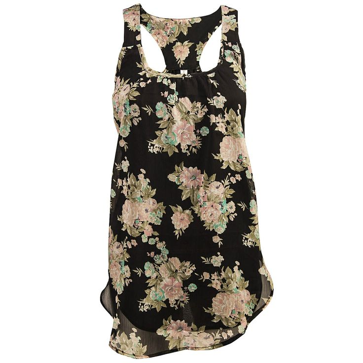 Floral Woven Tank #MyWarehouseOne