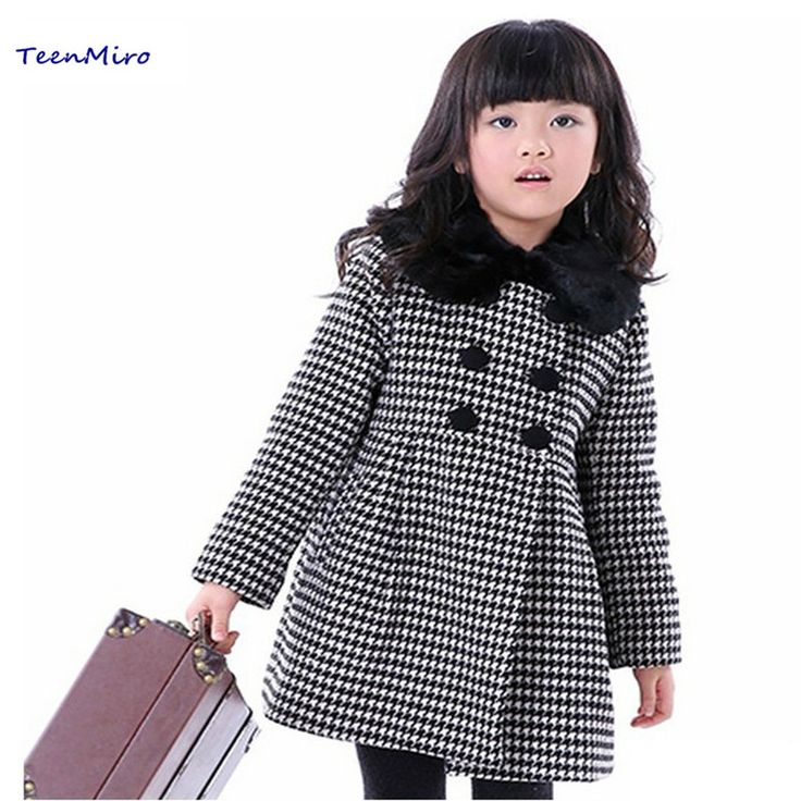 >> Click to Buy << 2016 Children's Woolen Clothing Long Jacket Coat Winter Thicken Wool Outwear Jackets For Girls Kids Clothes Outwear Coats Parka #Affiliate