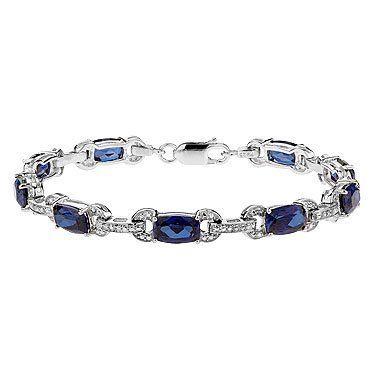 Created Ceylon Sapphire and Diamond Bracelet Reeds. $271.40