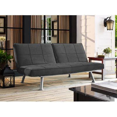 LifeStyle Solutions Serta Maxson Convertible Lounger Futon & Reviews | Wayfair -- ALL REVIEWS SAY COMFORTABLE: HUGE PLUS