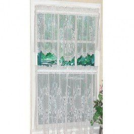Cameo Rose Lace Kitchen Curtain