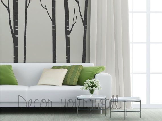 tree with birds wall decal wall sticker vinil by