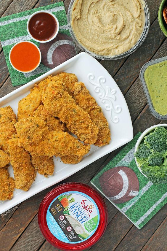 These baked Cheddar Ranch Chicken Tenders are an easy healthier way to eat chicken fingers! Just 279 calories or 6 Weight Watchers SmartPoints per serving! .