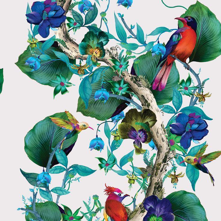 Rain Forest Emerald / Ruby wallpaper by Osborne & Little