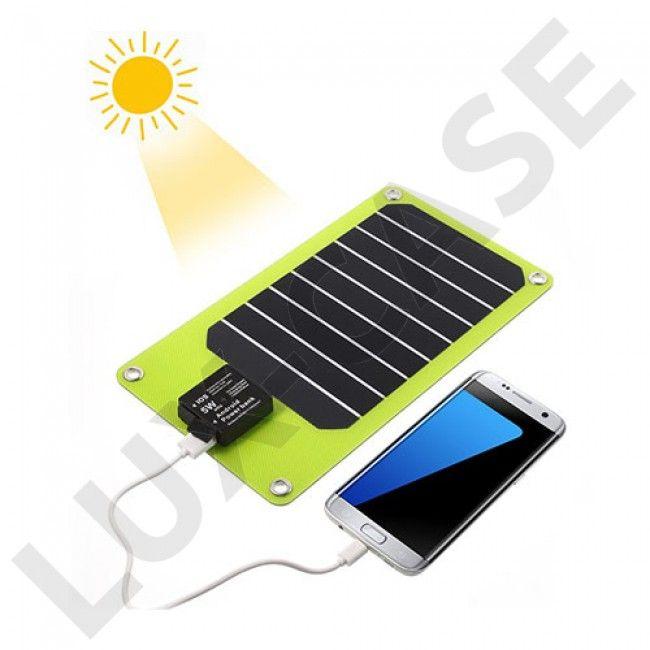 2-port USB Solenergi Laddare för Smartphones