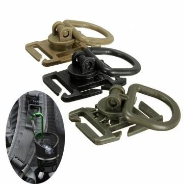 Molle Tactical 360 Degree Rotation D Ring Buckle For Vest Backpack