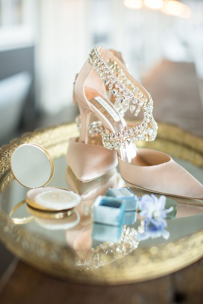 Velvet and Crystal Wedding Shoes