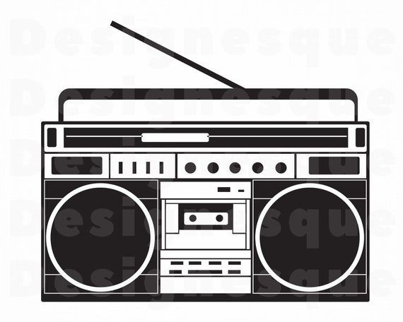Radio Svg Boombox Svg Radio Clipart Radio Files For Cricut Etsy In 2020 Boombox Svg Radio