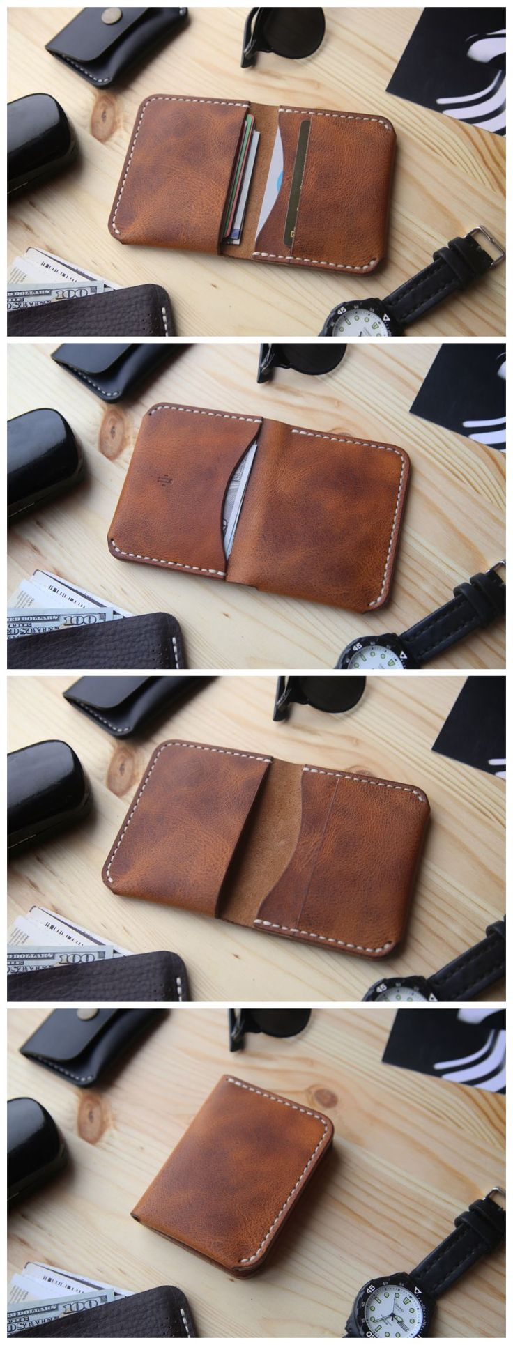 New wallet in Horween Derby is pure Vegetable Tanned leather. This leather has its own Unique Natural Characteristics. It has a distinct unique texture, each piece of which is not similar to each other. will become rich and intense colour to produce a car