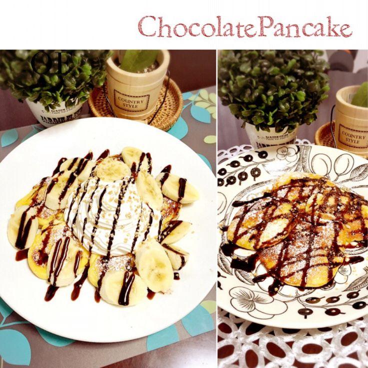 ♡チョコバナナパンケーキ♡