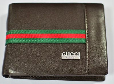 Great Sale Auction Mens Brown Leather Gucci Wallet BNWB