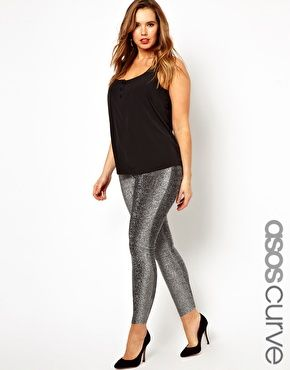 "And now we play a little game I call ""80s or awesome?"" ASOS CURVE Legging In Lurex"