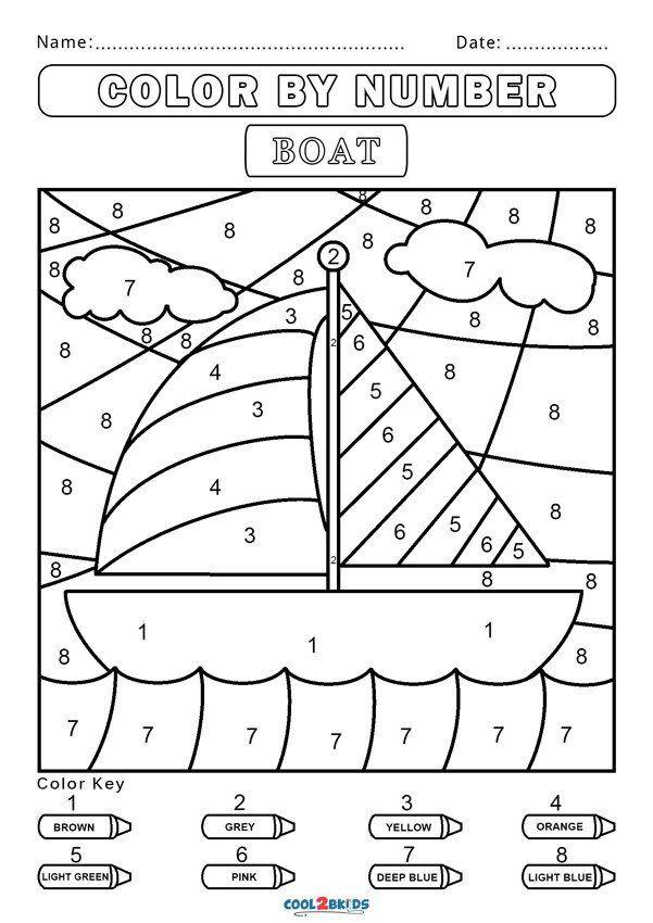 Color By Number Worksheets Kindergarten Free Color By Number Worksheets In 2020 Number Worksheets Kindergarten Number Worksheets Kindergarten Worksheets