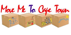 This is a relocation company. The boxes are packed and there are kids involved that have drawn their destination on the boxes. The text font looks hand written, like a note expressing a wish.