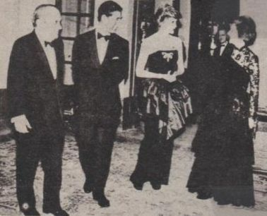 21 March 1987,Prince Charles and Princess Diana attend a Reception at the Spanish Embassy in London